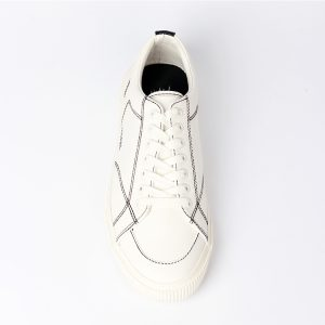 fashion hot Leisure Low Top Casual Shoes White custom flat sneakers men shoes casual genuine leather