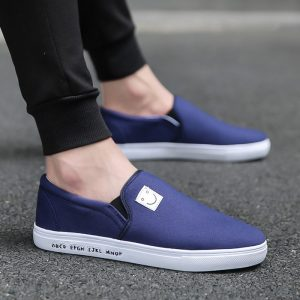 Custom Cheap Latest mens driving loafers suede casual slip on canvas shoes for men