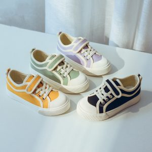 Comfortable Breathable No Logo Flat Canvas Shoes Baby Boy Shoes Kids Oem Casual Baby Shoes