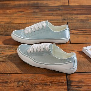 New Arrival Wholesale Custom Ankle Canvas Slip-On Shoes With Lace Up Vulcanized Casual Canvas Shoes