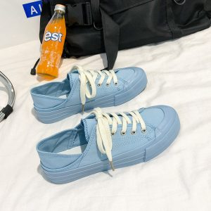 High Quality Customize Men Canvas Shoes Bright Color Ladies Fashion Shoes Breathable Sneaker
