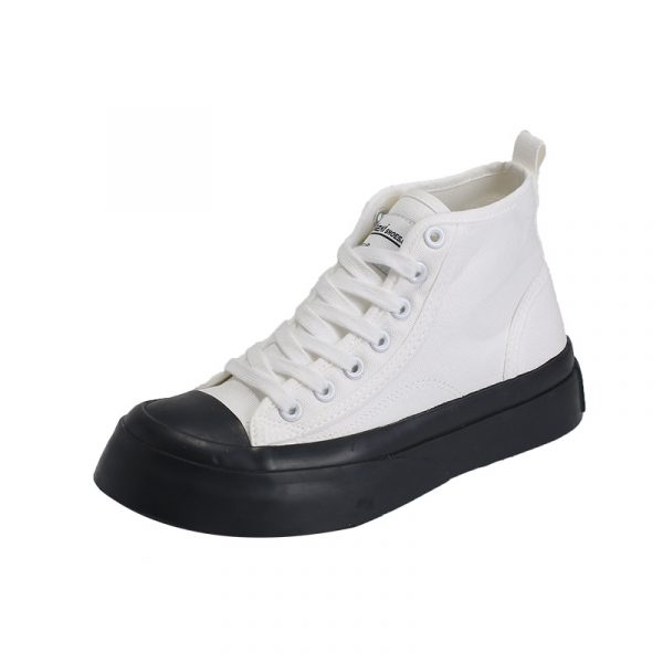 Good Quality Low Price New Modern Breathable Fashion All-Match High Top Canvas Shoes Men Sneakers