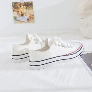 2020 Hot Sale Fashion White Lightweight Wholesale Factory Sneakers Canvas Shoes For Women