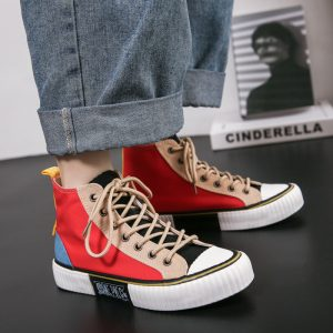 New Arrival Stylish New Design Rubber Fashion Canvas Shoes Flat Casual High Top Canvas Shoes