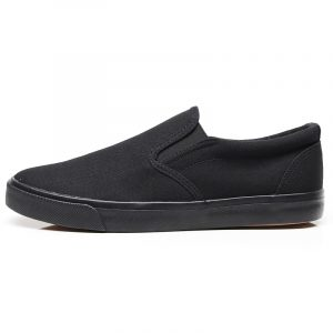 Daily leisure black vulcanized business casual youth canvas shoes male loafers