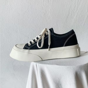 Spring Summer Trending Polular Latest Lace-Up Flat Men Canvas Casual Shoes With Pure Color For Men