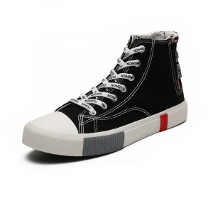 New Custom Casual Shoe Sneakers Woman Student High Top Casual Shoes Men Canvas