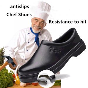 Wholesale Kitchen Oil Resistance Anti-skidding Step-in Lightweight Economical Chef Safety Shoes